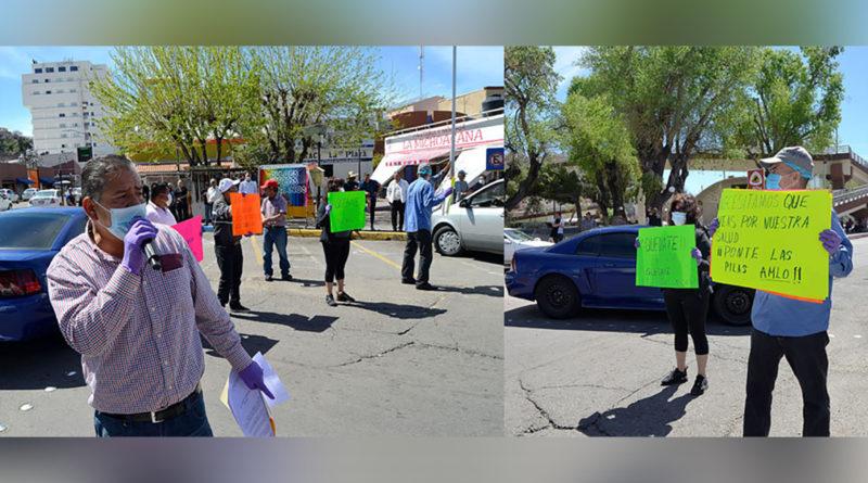 Mexicanos protesta para que estadounidenses no entren a México
