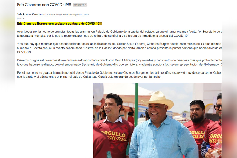 Eric Cisneros se contagió de coronavirus