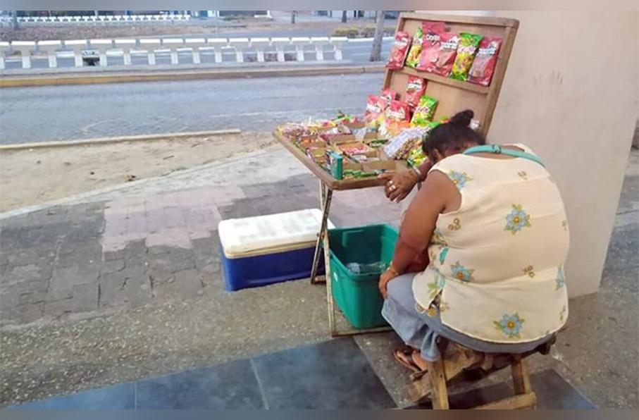 Gabriela, vendedora ambulante de Villahermosa