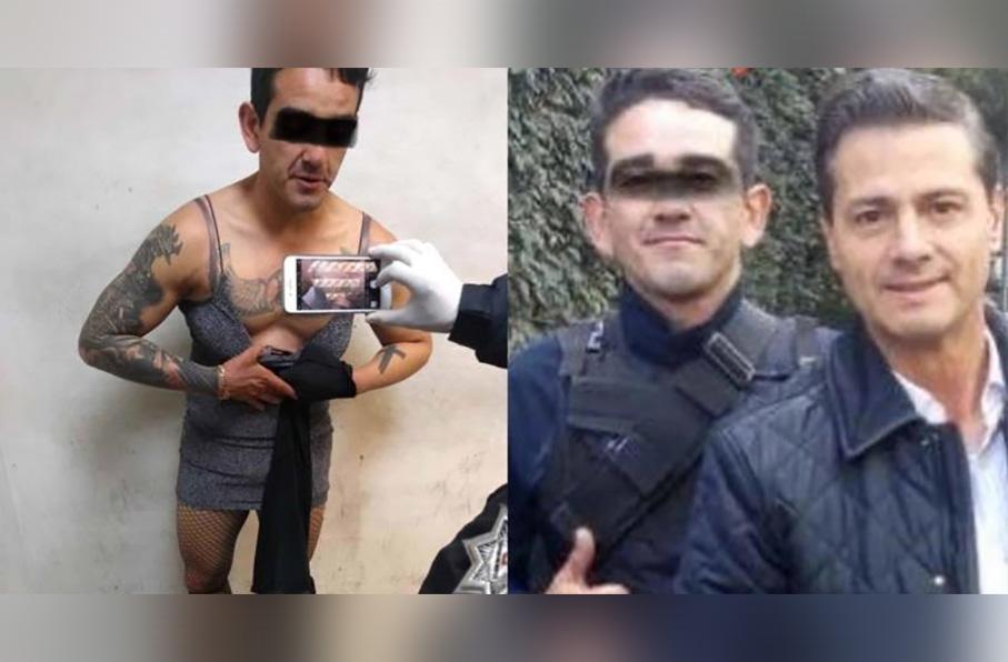 Escolta de Enrique Peña Nieto fue detenido en estado de ebriedad, vestido con ropa de mujer