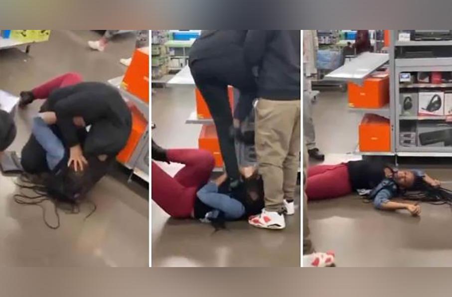 Mujeres se agarran a trancazos por un PlayStation 5 en Walmart