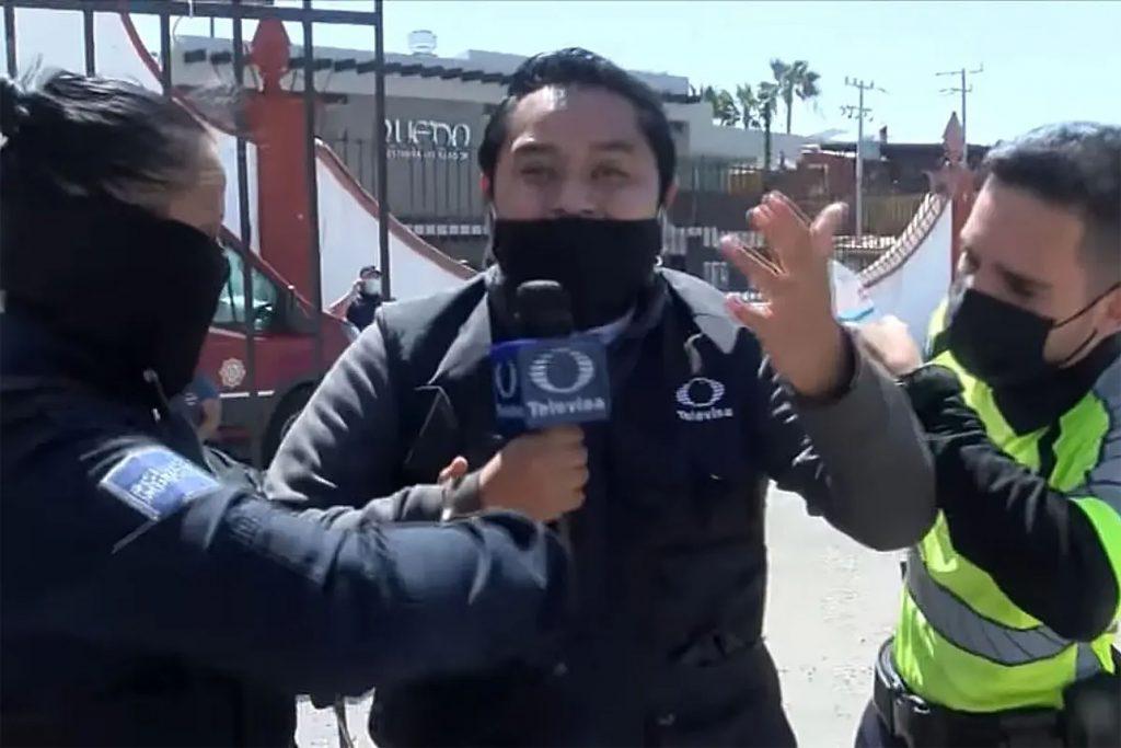 Reportero de Televisa