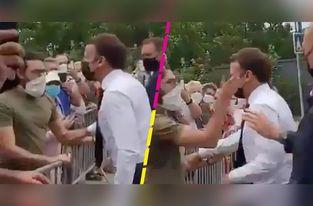 Cachetean al presidente de Francia Emmanuel Macrom