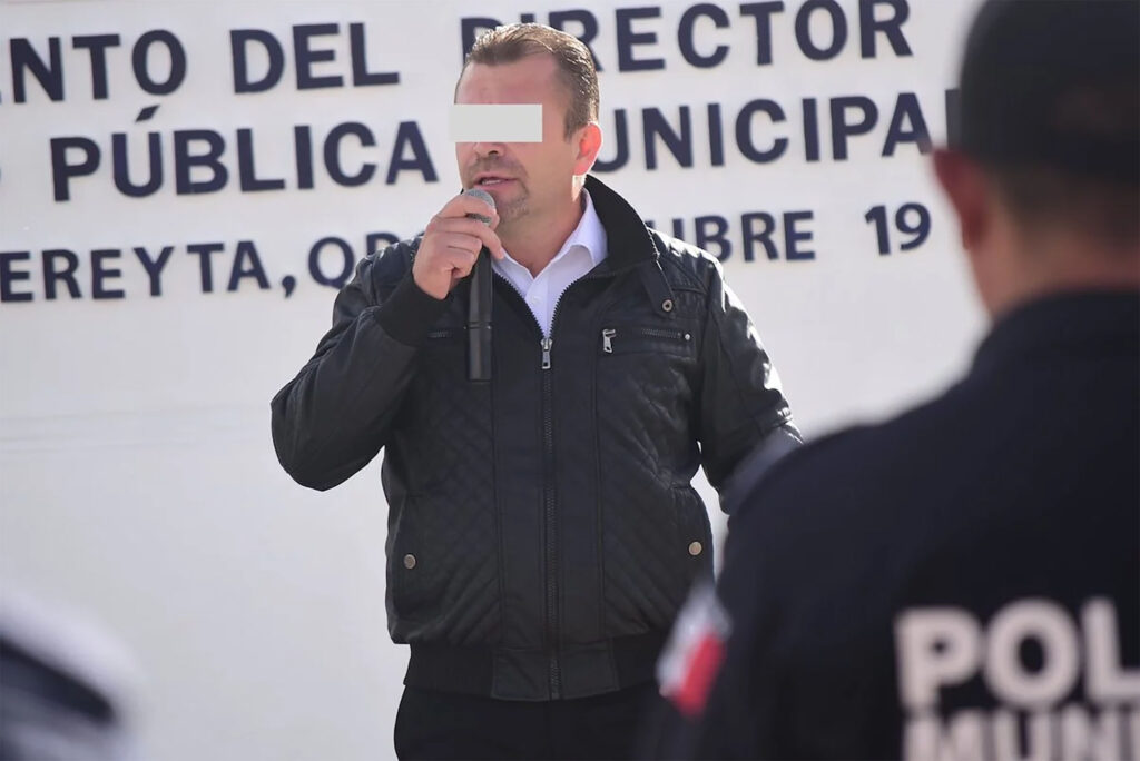 Detienen al director de Seguridad Pública del municipio de Cadereyta, Alejandro Daniel, por el delito de violencia familiar