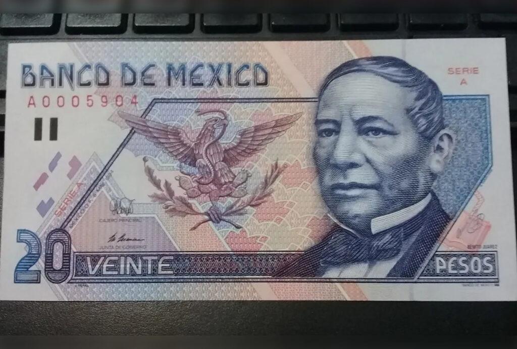 billete de 20 pesos