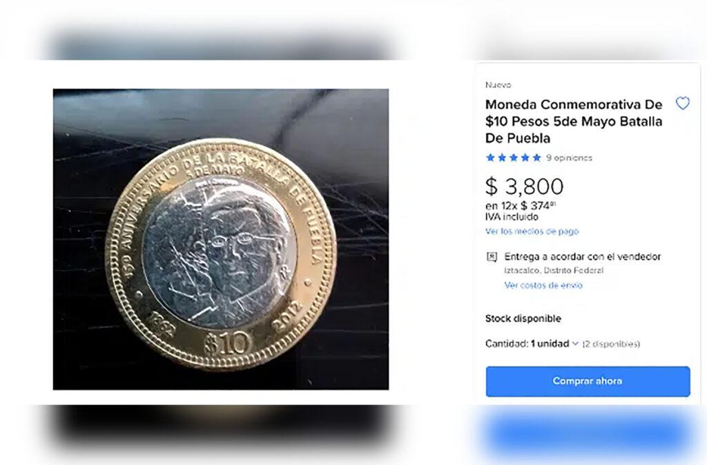 moneda de 10 pesos